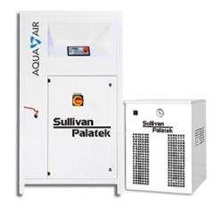 sullivan palatek aqua air water lubricated oilless oil free rotary screw air   compressor with dedicated refigerated compressed air dryer