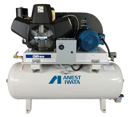 anest iwata oil free piston air compressor