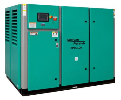 sullivan palatek dry screw oil free rotary screw air compressor